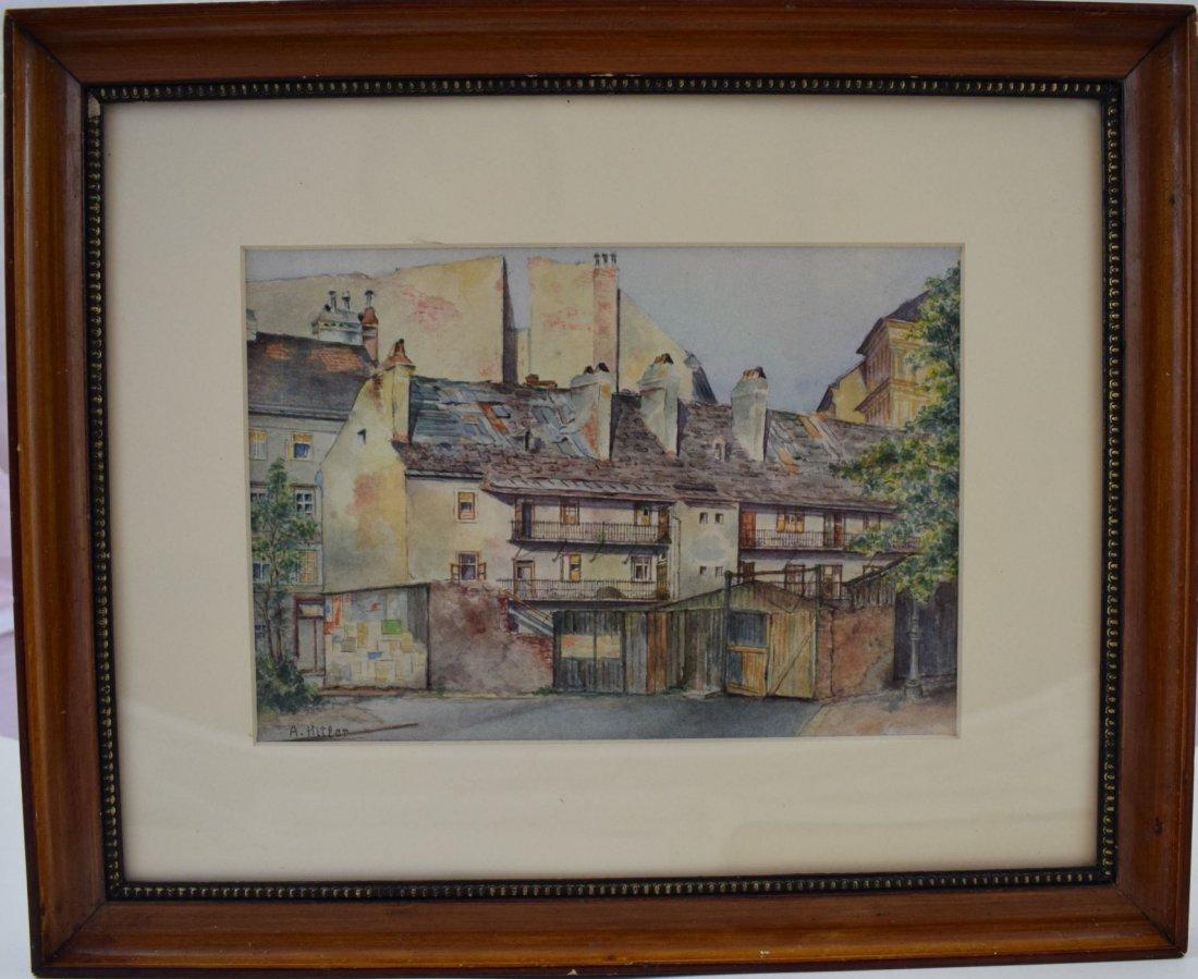 Adolf Hitler Watercolor Painting – Street Scene Vienna - 2