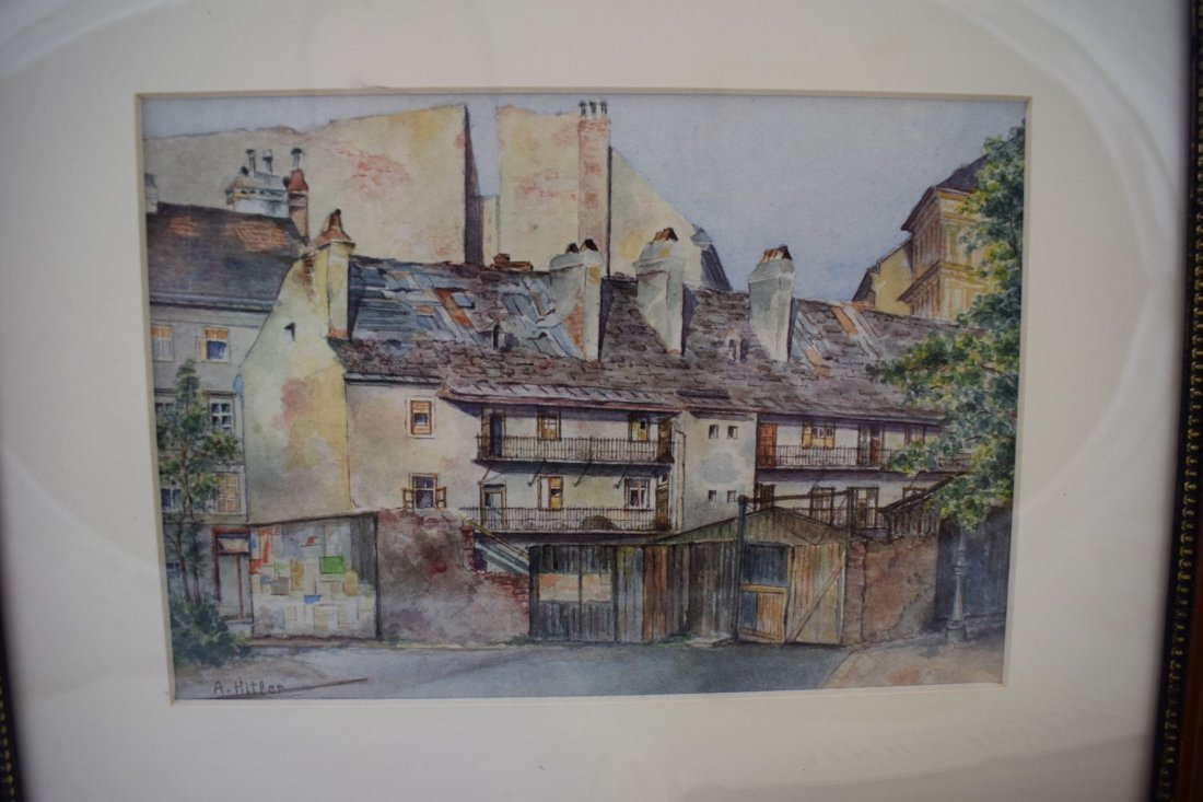 Adolf Hitler Watercolor Painting – Street Scene Vienna - 3