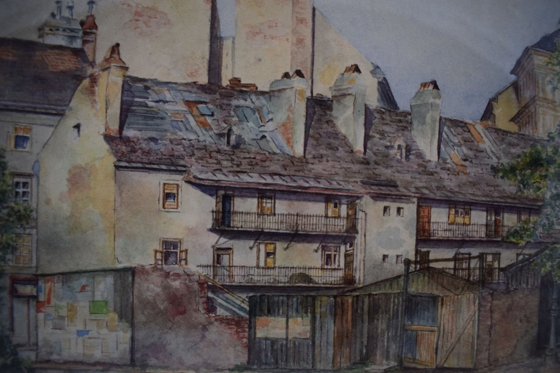 Adolf Hitler Watercolor Painting – Street Scene Vienna - 4