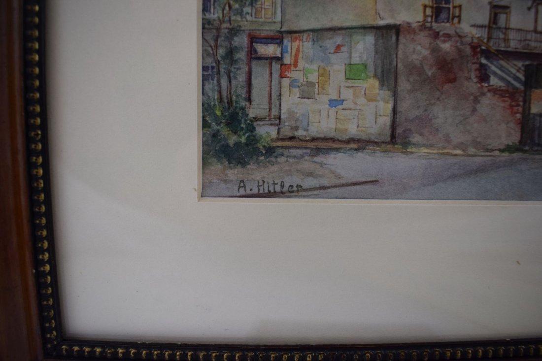 Adolf Hitler Watercolor Painting – Street Scene Vienna - 5