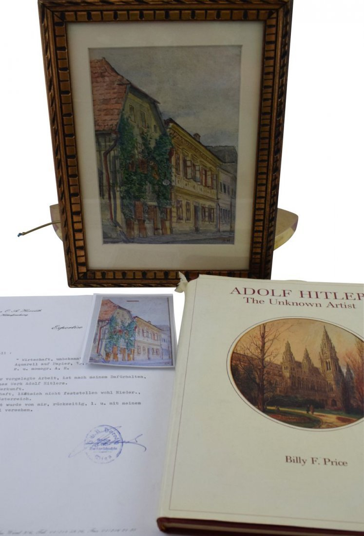 Adolf Hitler Watercolor Painting –  Wine Tavern