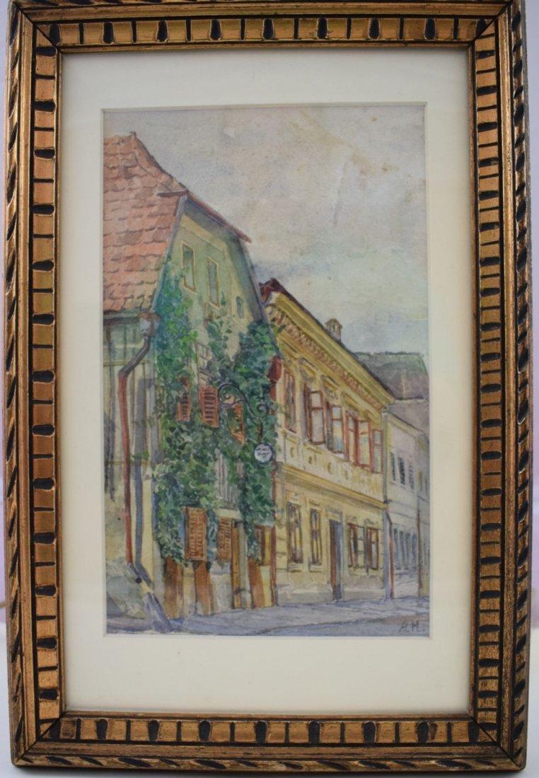 Adolf Hitler Watercolor Painting –  Wine Tavern - 2