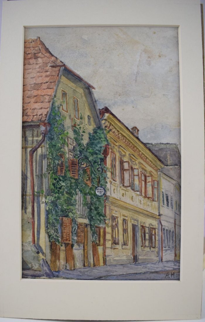 Adolf Hitler Watercolor Painting –  Wine Tavern - 3