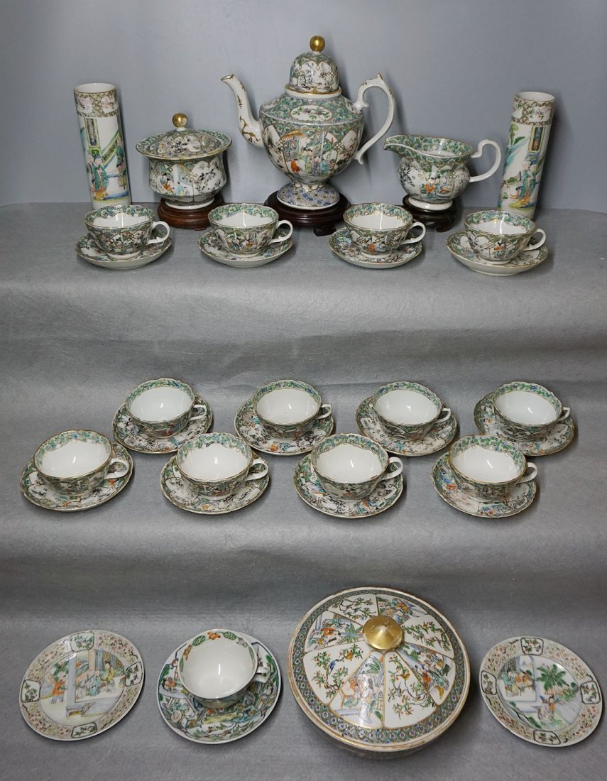 antique chinese export Qing dynasty porcelain tea sets