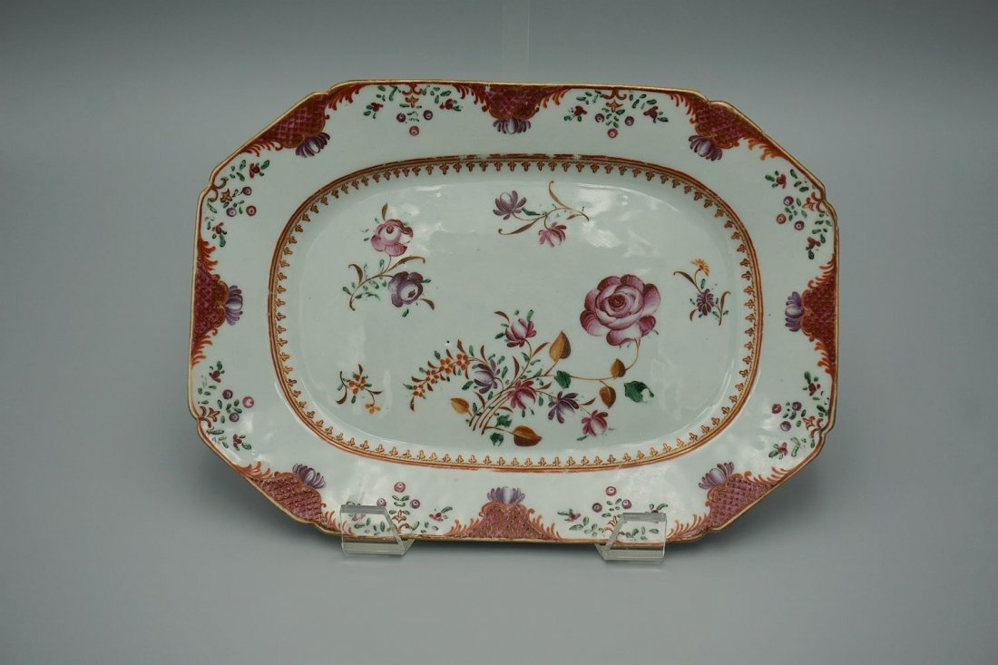 Antique chinese export Yongzheng famille rose porcelain