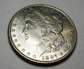 1897 P Better Date BU Morgan Silver Dollar