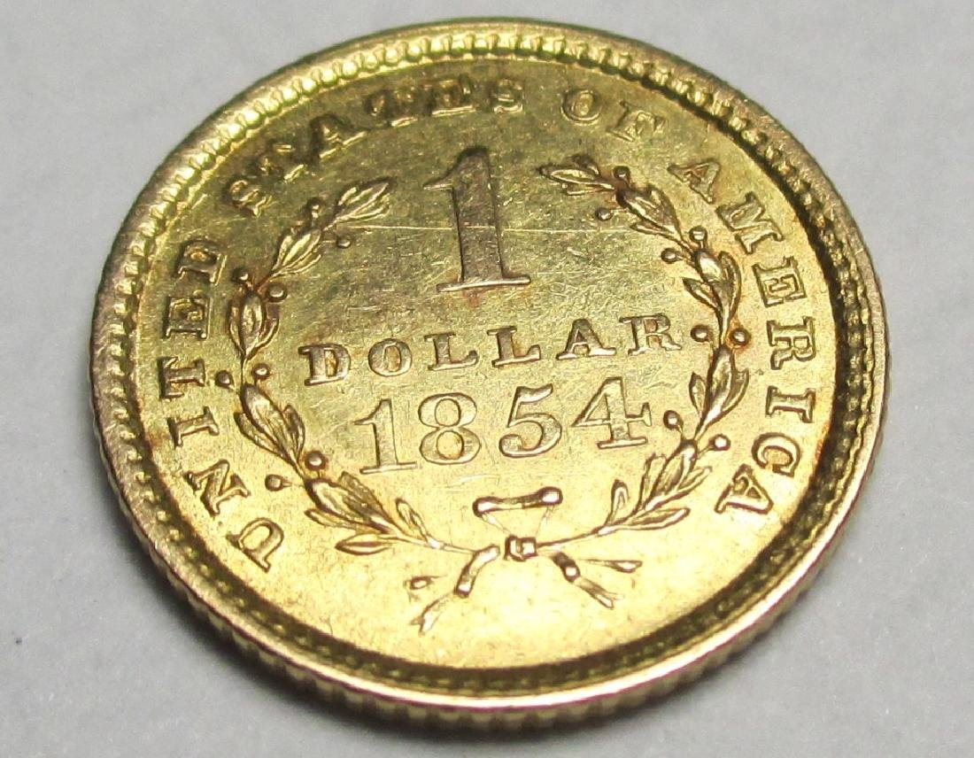 1854 TYPE 1 Gold $1 Liberty