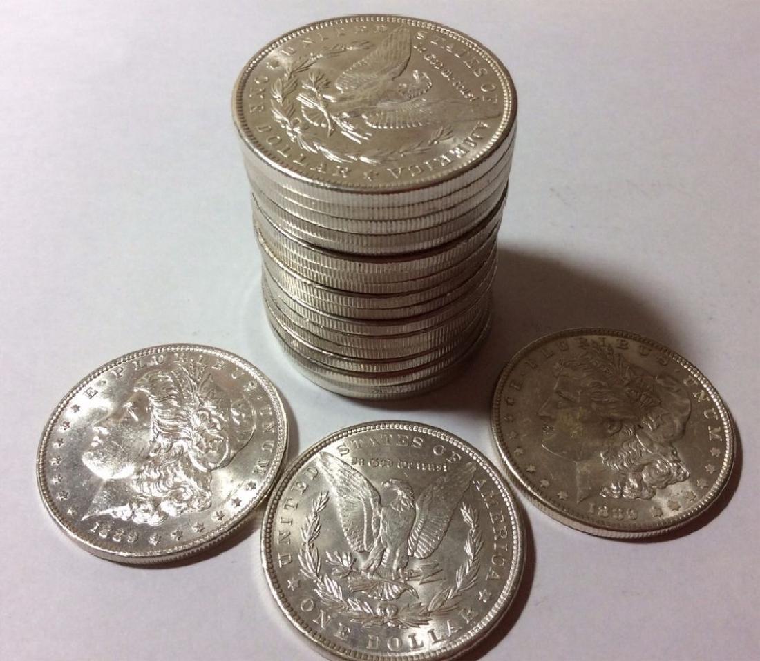 (20) Random Date BU Morgan Silver Dollars-No 21s