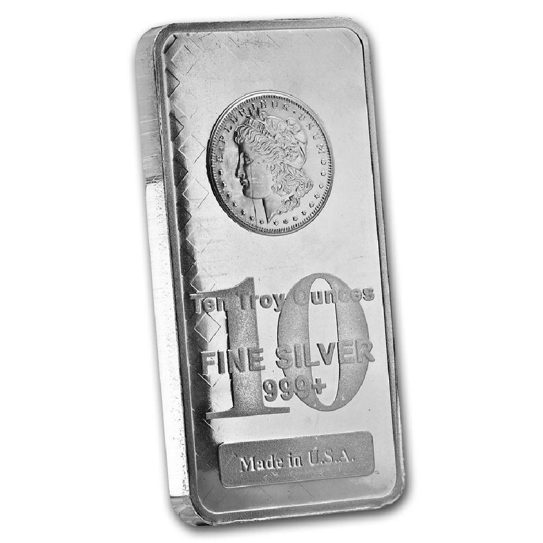 10 oz. Morgan Design Silver Bar