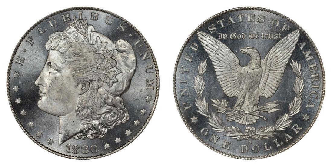 1880 S CH BU Morgan Silver Dollar