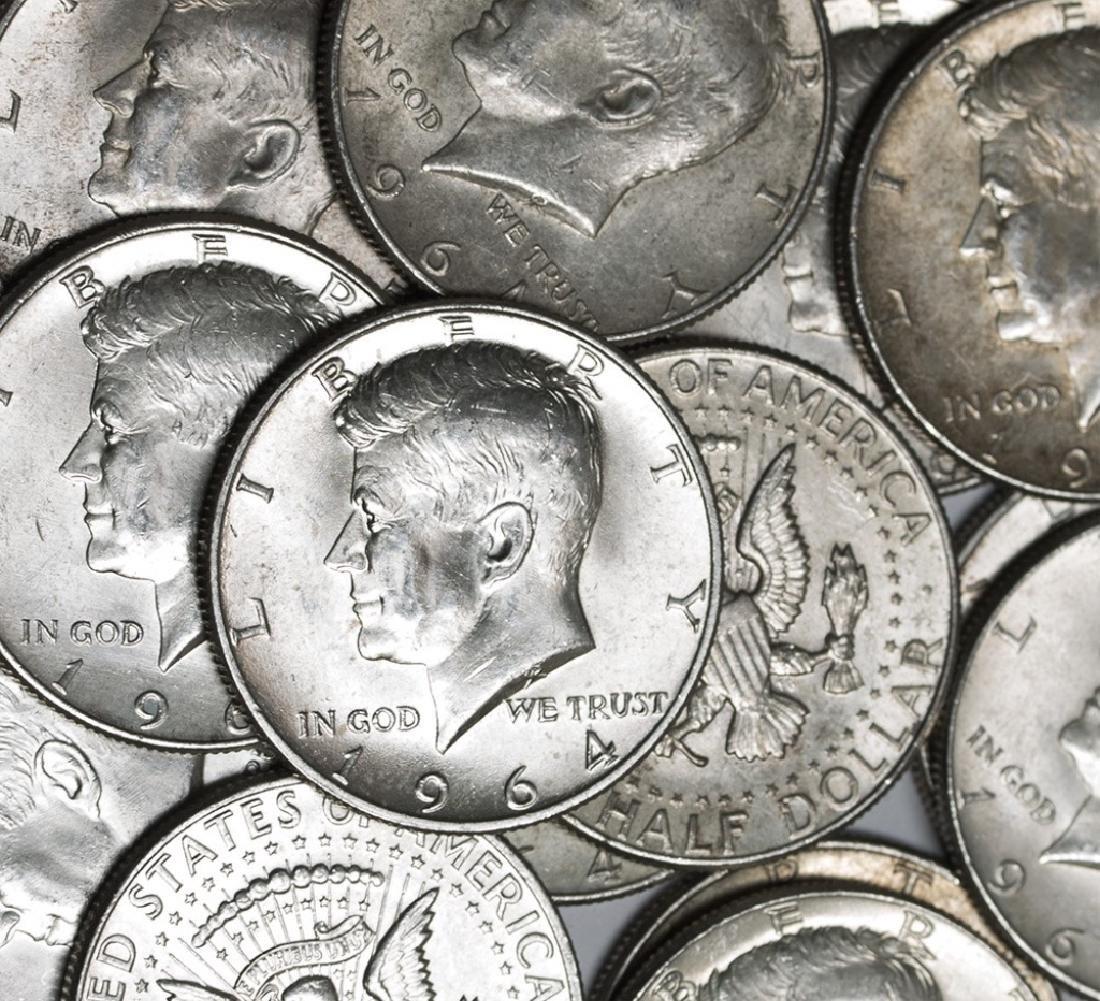 (50) Kennedy Half Dollars - 1964 - 90% Silver