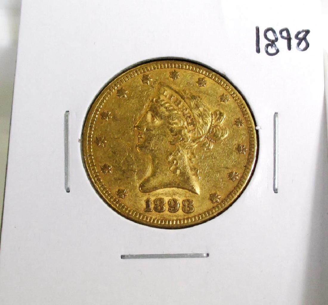 1898 $ 10 Gold Liberty Eagle