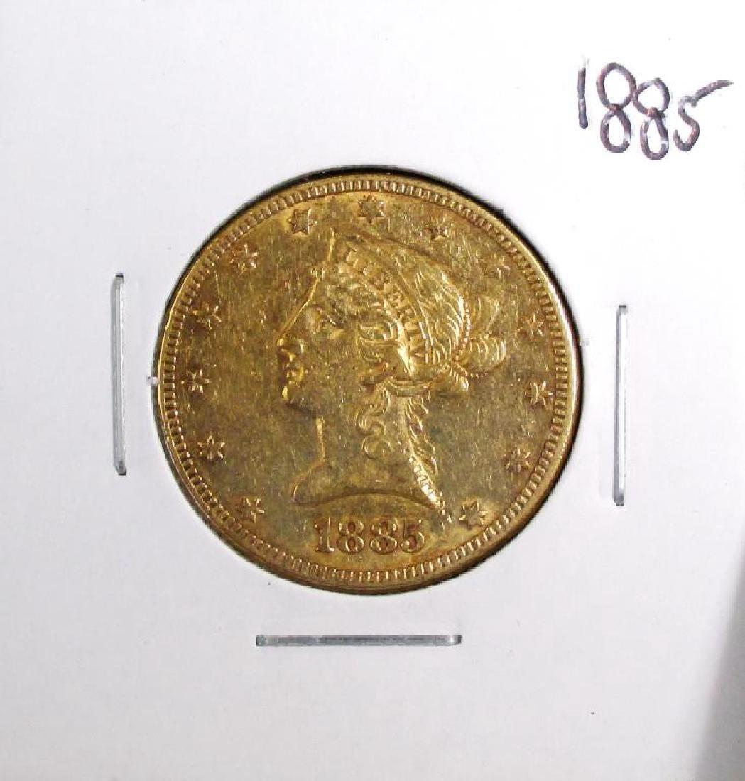 1885 $ 10 Gold Liberty Eagle