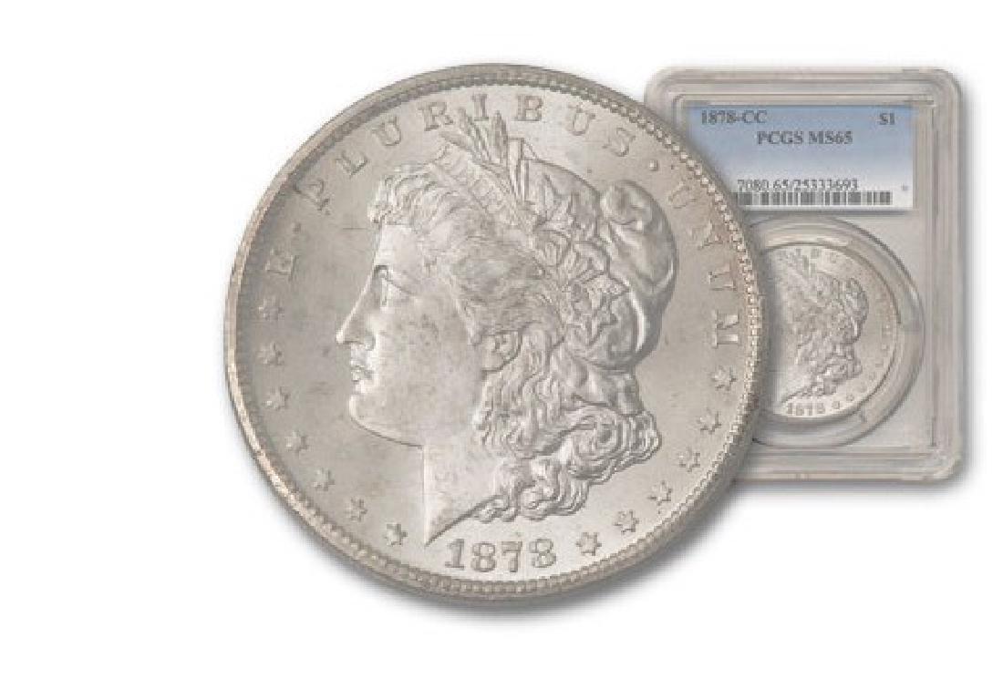 1878-CC $1 Dollar Morgan PCGS MS65