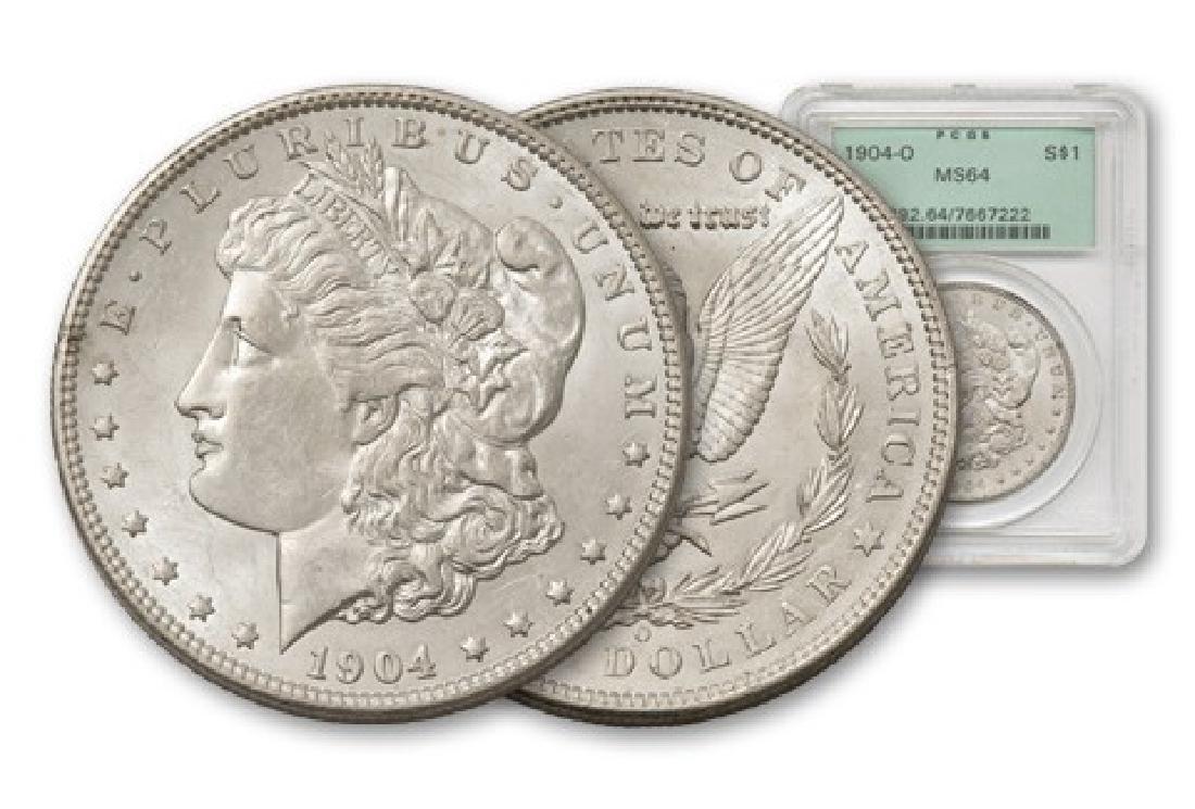 1904-O Morgan Silver Dollar NGC PCGS MS64