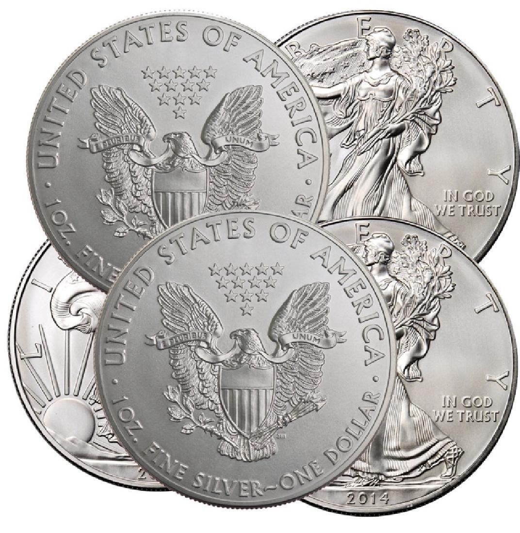 Lot of (5) US Silver Eagles - - 2