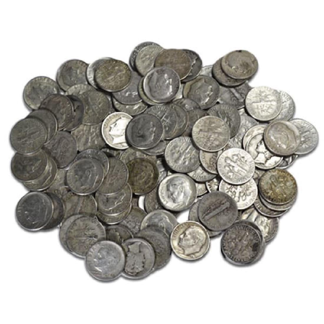 $5 Face Value Roosevelt Dimes- 50 pcs-90% Silver