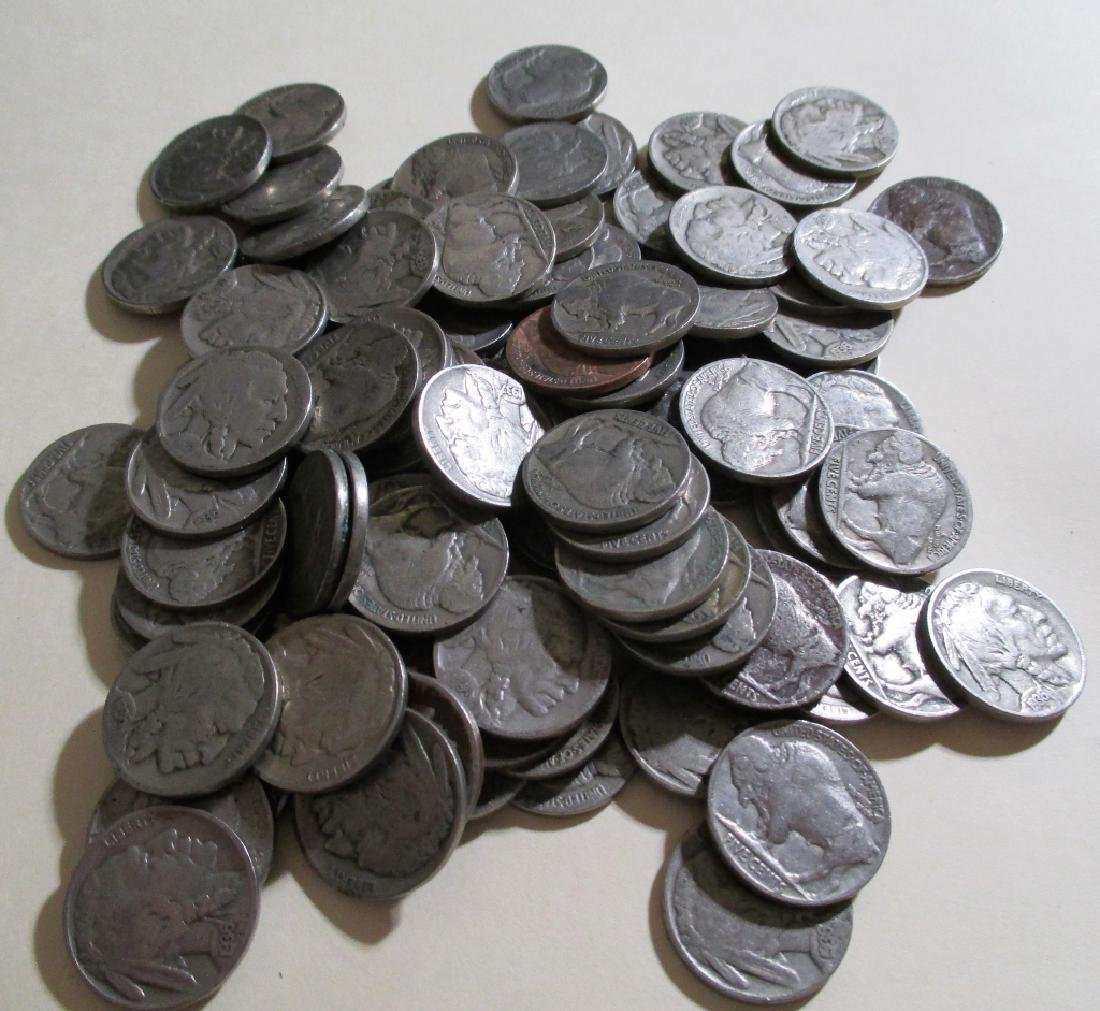 Lot of (100) Buffalo Nickels- Various Dates