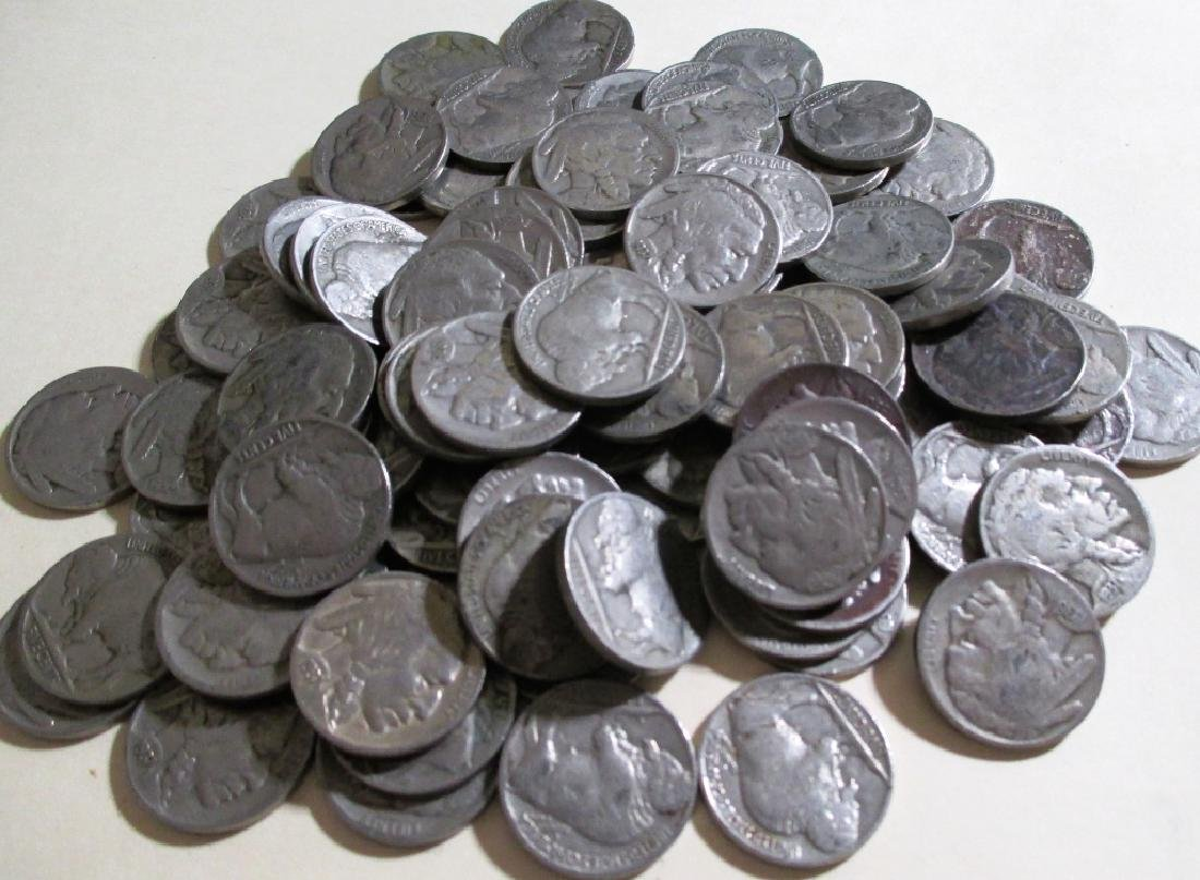 Lot of (100) Buffalo Nickels- Various Dates - 2