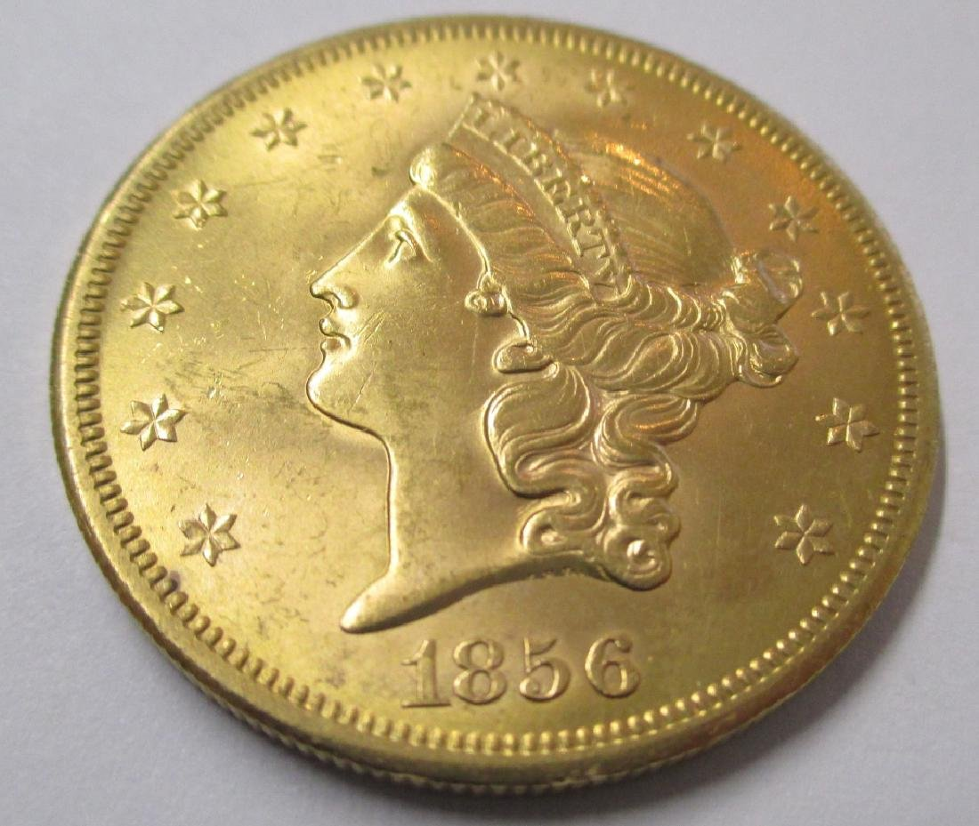 1856 S Superior Coin - Key Date - $20 Gold Liberty