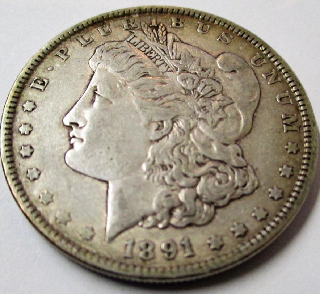 1891 P Key Date Morgan Silver Dollar