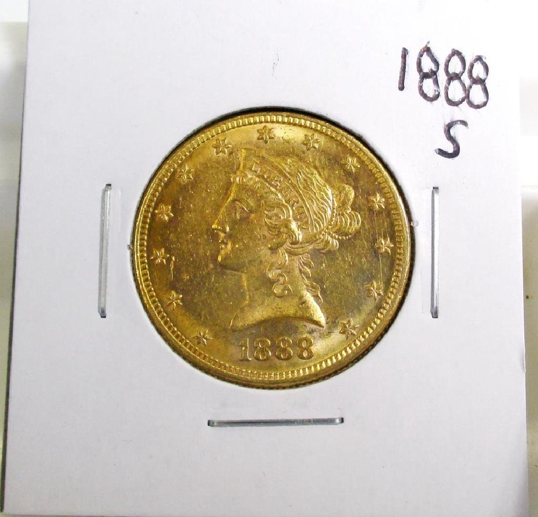 1888 S Better Date  10 Gold Liberty Eagle