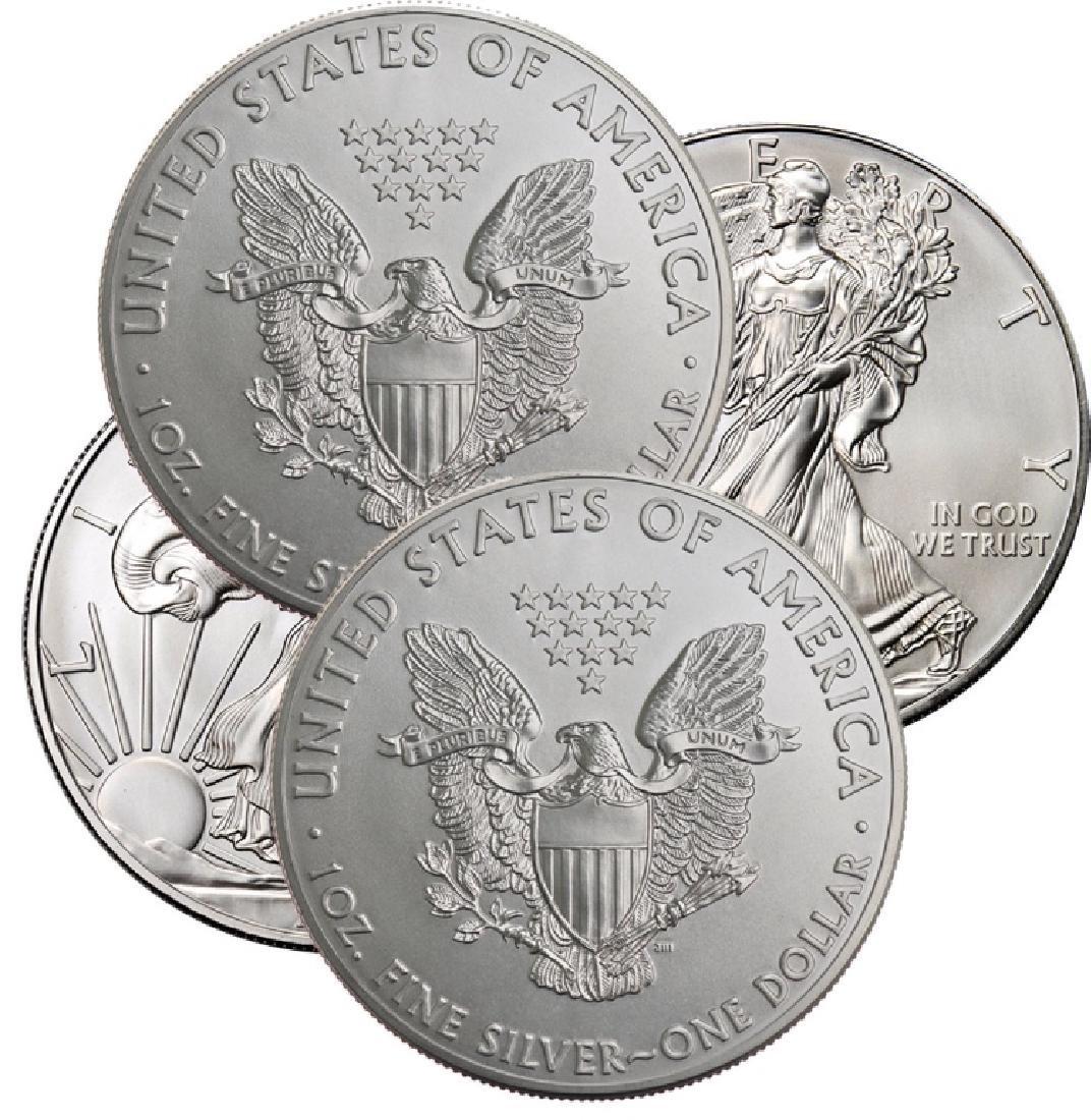 (4)  Random Date US Silver Eagle BU Grade