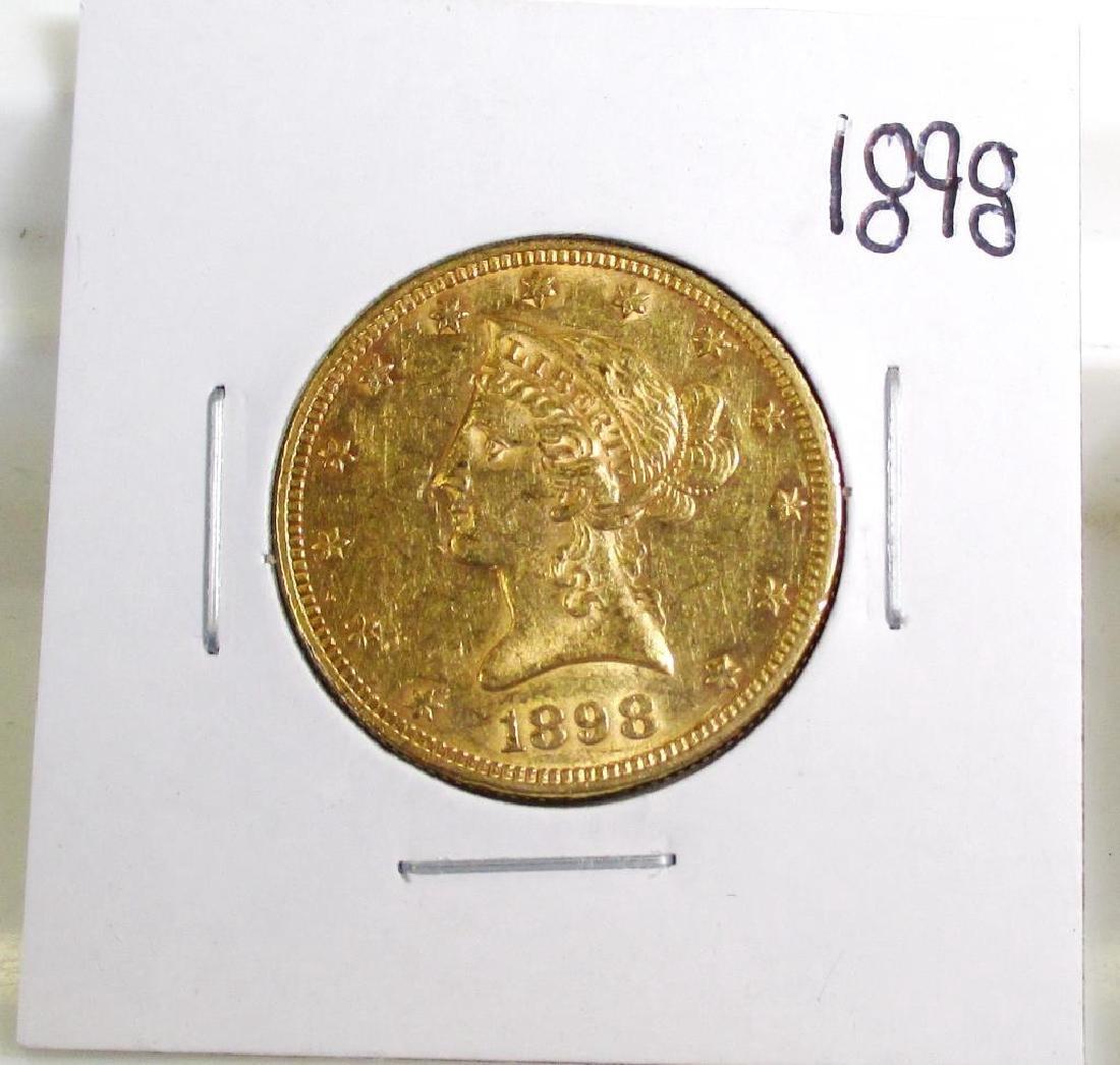1898  10 Gold Liberty Eagle