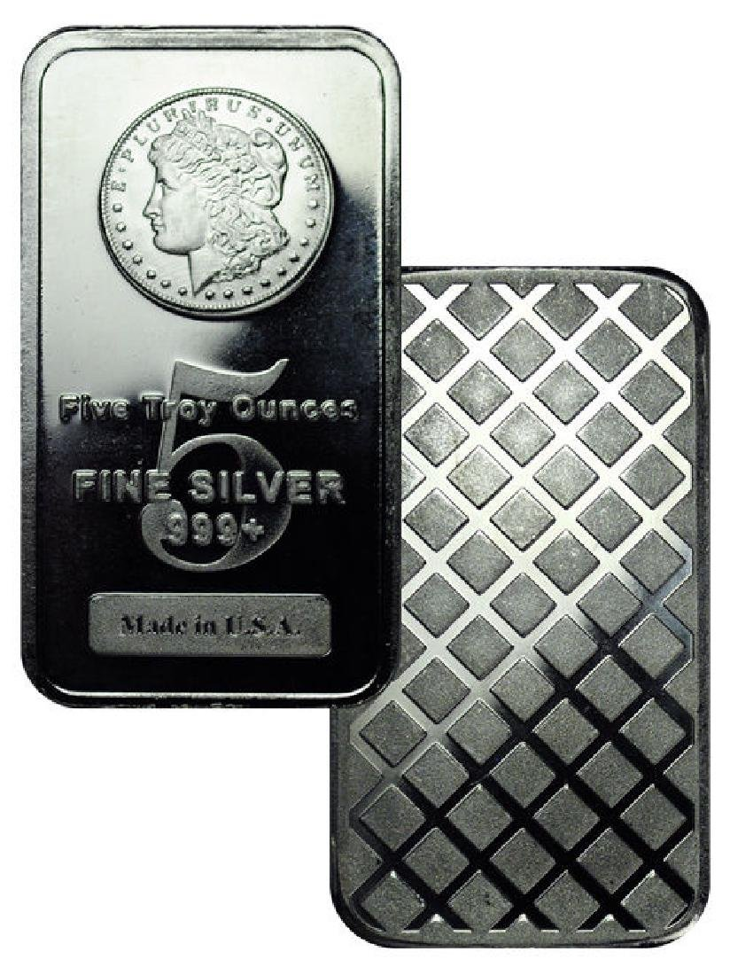 5 oz. Morgan Design Silver Bar -.999 Pure - 2