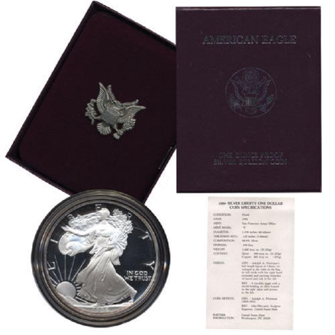 1986 US Silver Eagle - Proof - 1st Year Issue