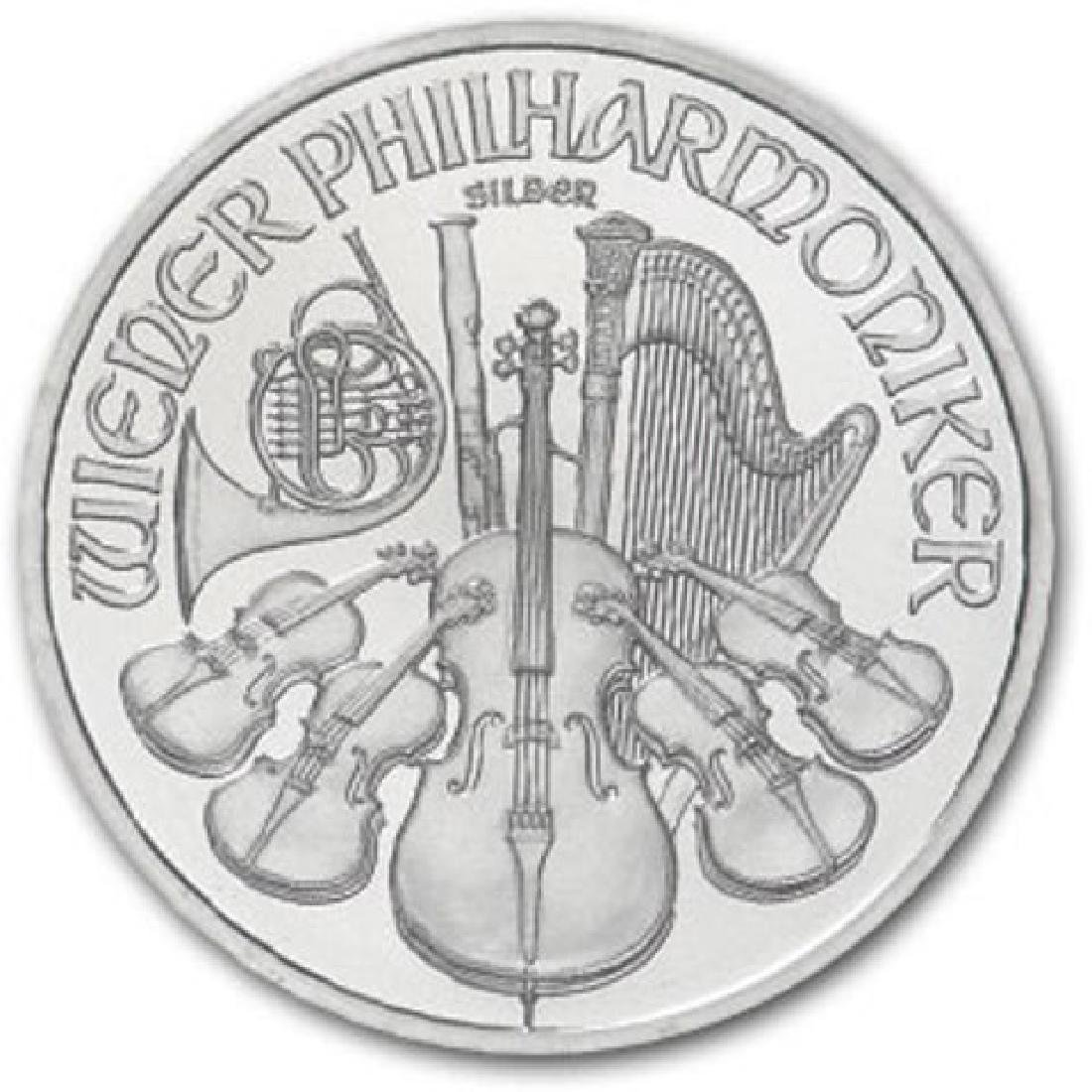 1 oz. Random Date Silver Austrian Philharmonic - 2