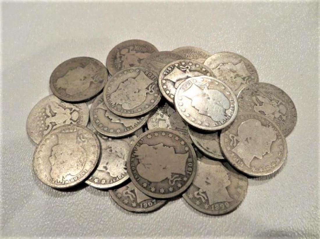 (20) Barber Quarters -90% Silver