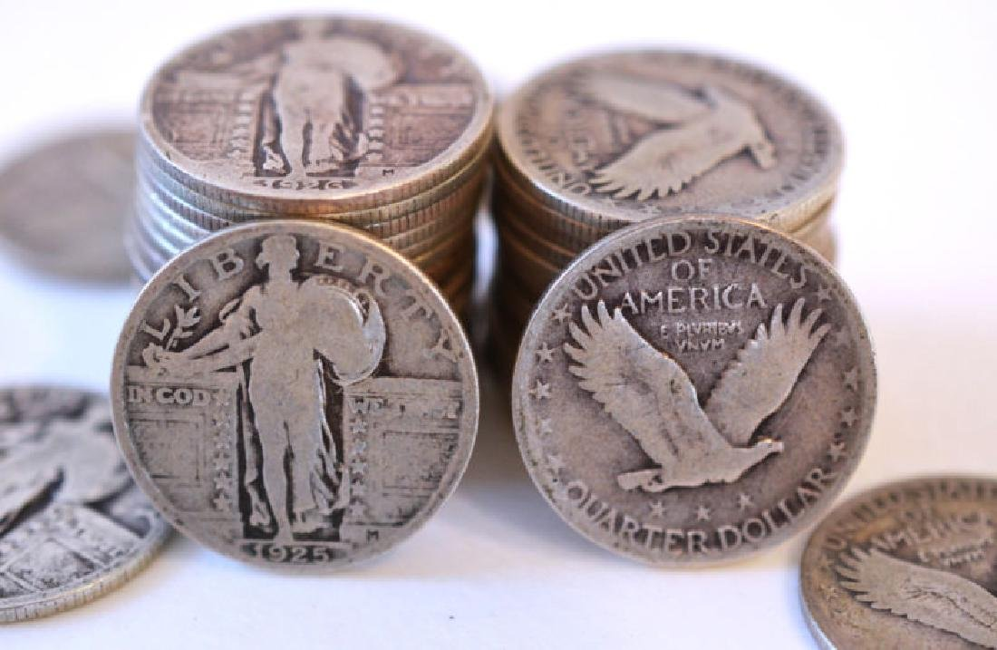 (20) Standing Liberty Quarters -90% Silver - 2