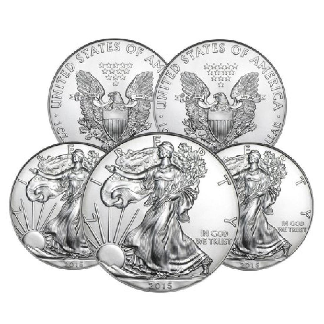 (5) Random Date US Silver Eagles