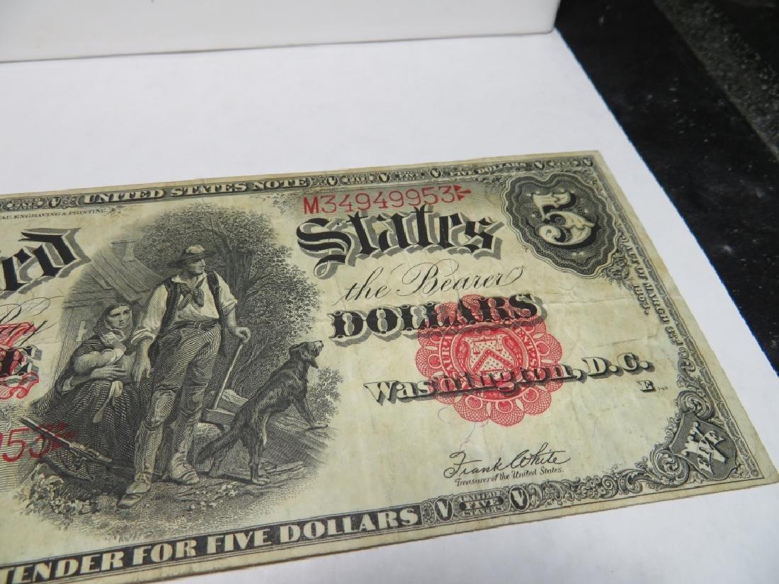 "Series 1907 ""Woodchopper""  $5 US Note - 2"