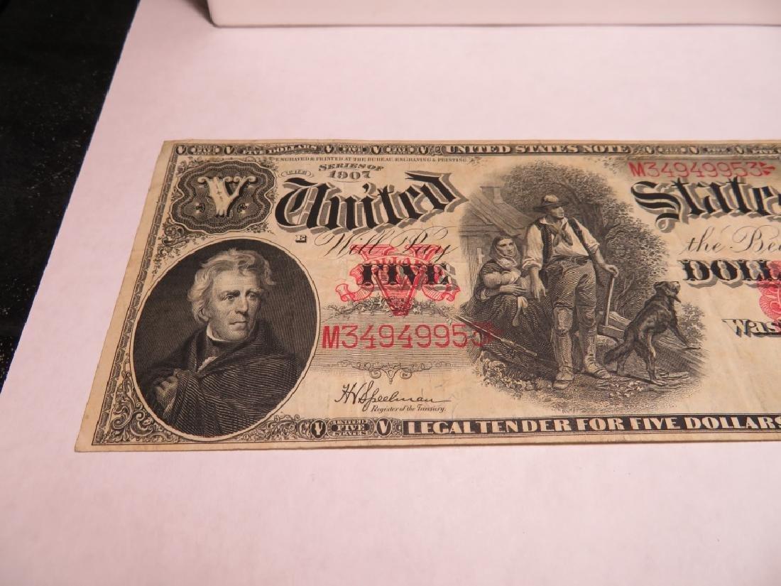 "Series 1907 ""Woodchopper""  $5 US Note - 3"