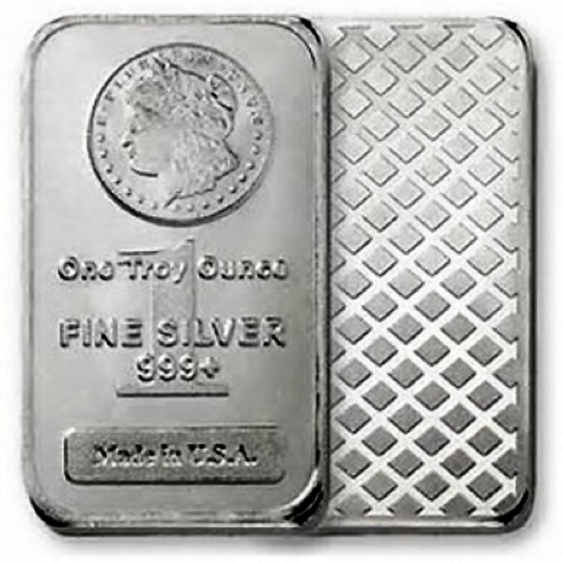 1 oz. Morgan Design Silver Bar - .999 Pure