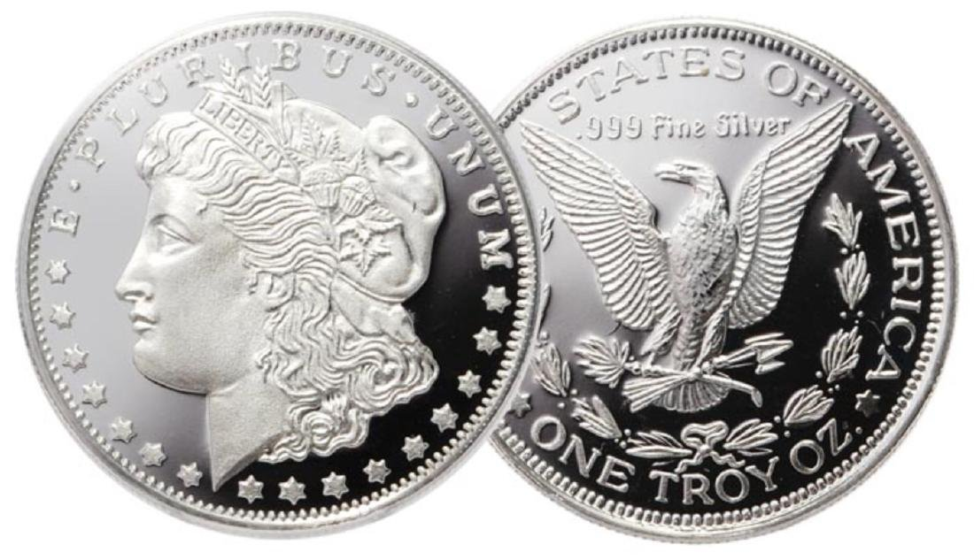 1 oz. Silver Morgan Design - .999 Pure