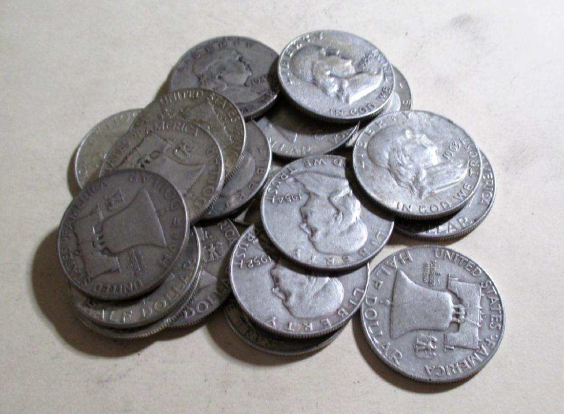 (20) Franklin Half Dollars -90% Silver - 2
