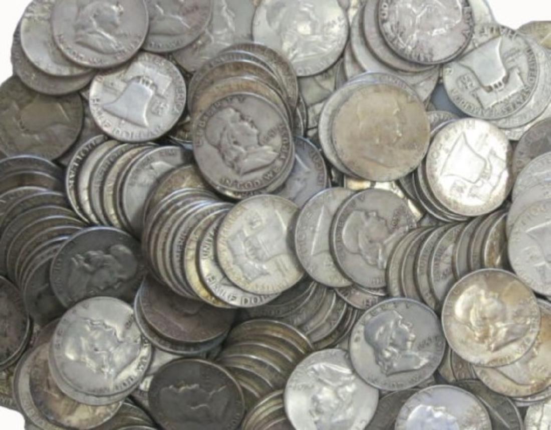 (50) Franklin Half Dollar -90% Silver - 2
