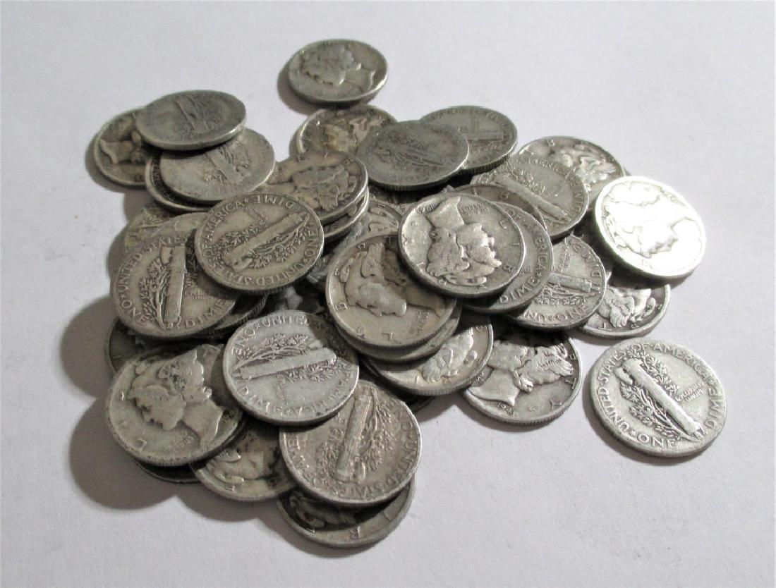 (50) Mercury Dimes - 90% Silver Random Mix