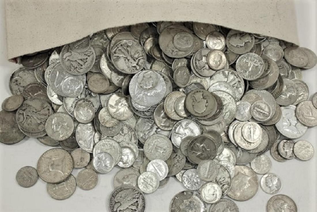 $10 face Value Mixed -90% Silver Coins - 2