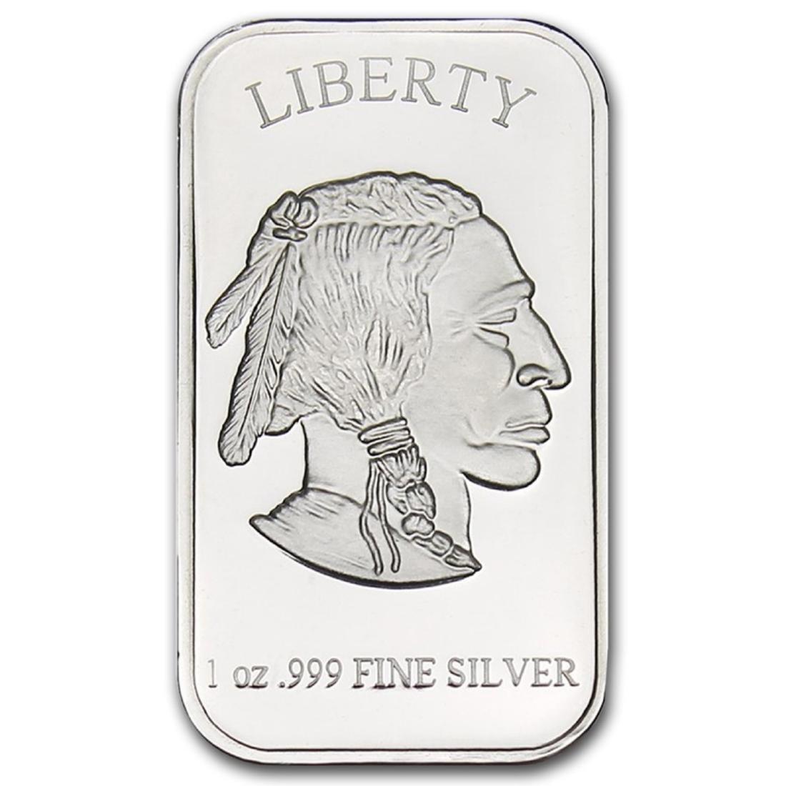 1 oz Silver Buffalo Silver Bar - 2