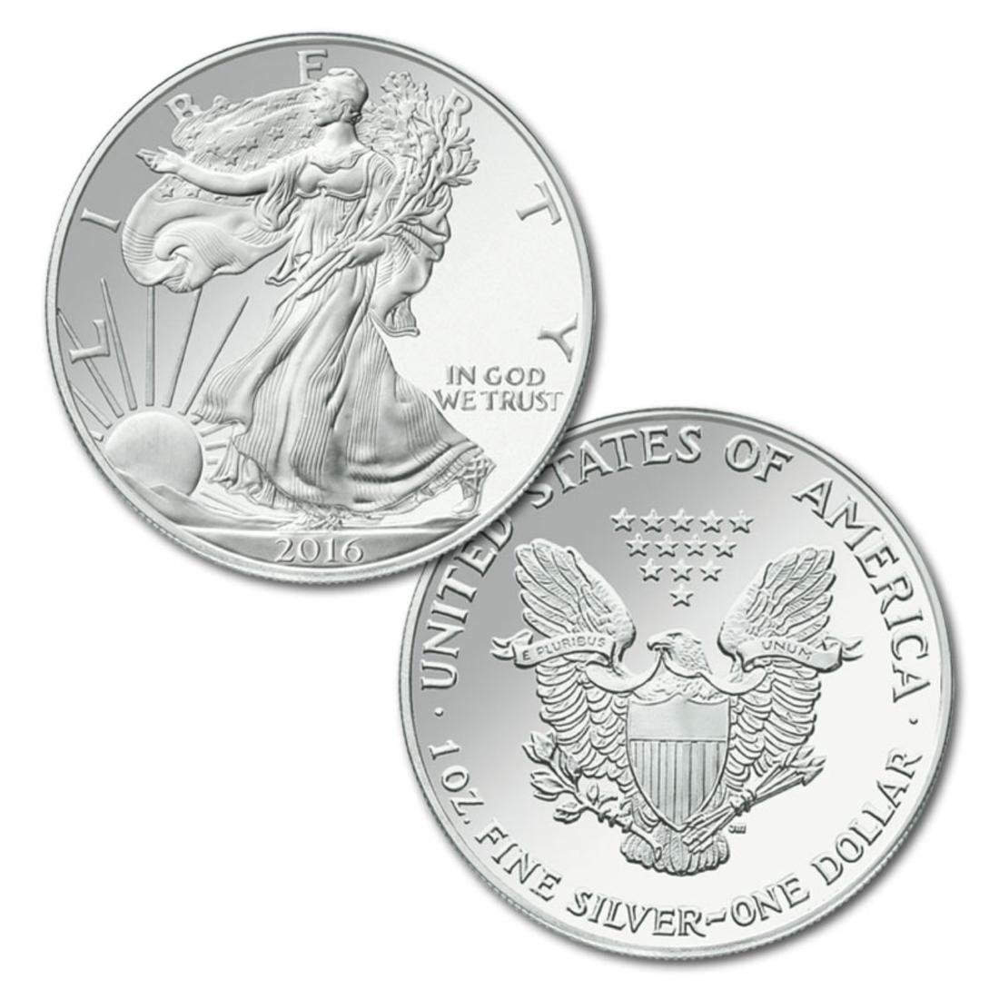 (1) 2016 US Silver Eagle-Mint Fresh