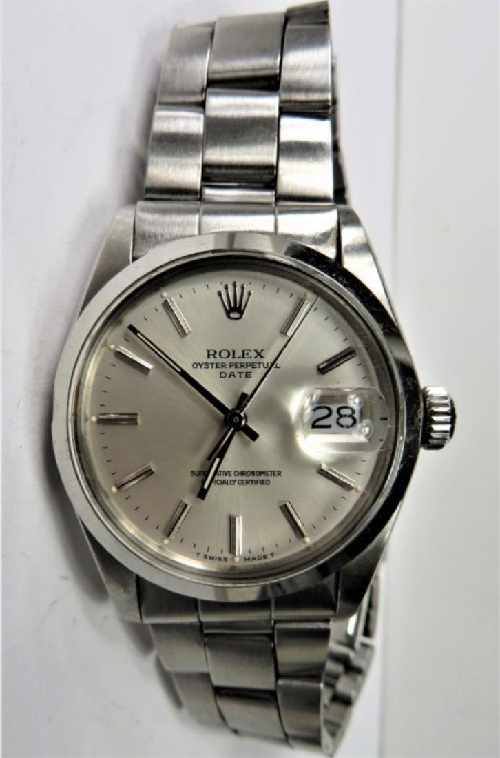 Authentic ROLEX DATE Oyster - S/S - 7