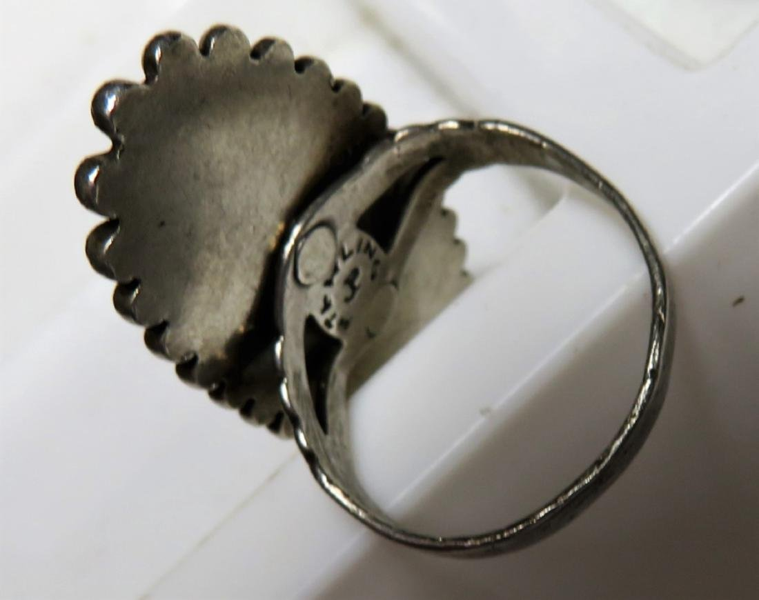 Signed JP Turquoise indian Pawn Ring - 4