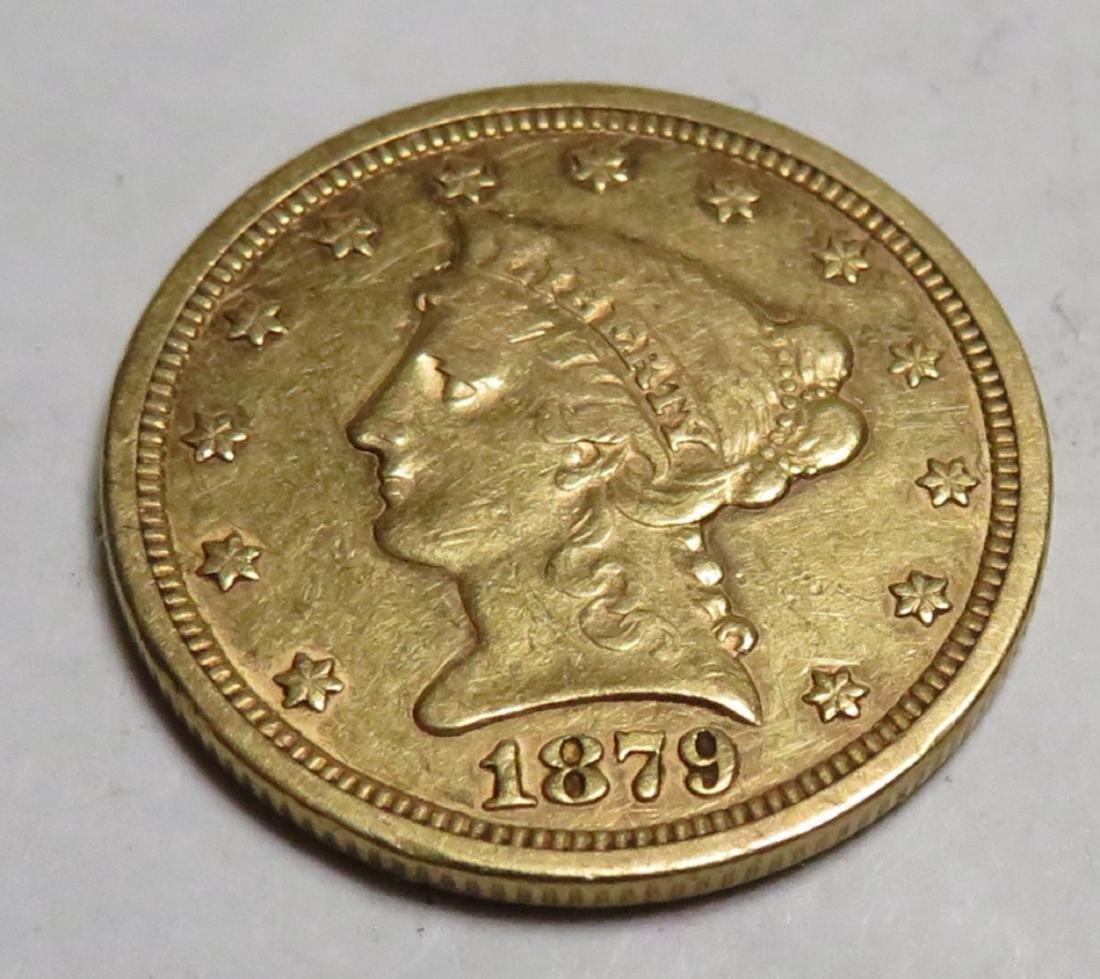 1879 S $2.5 Gold Liberty Coin better Date