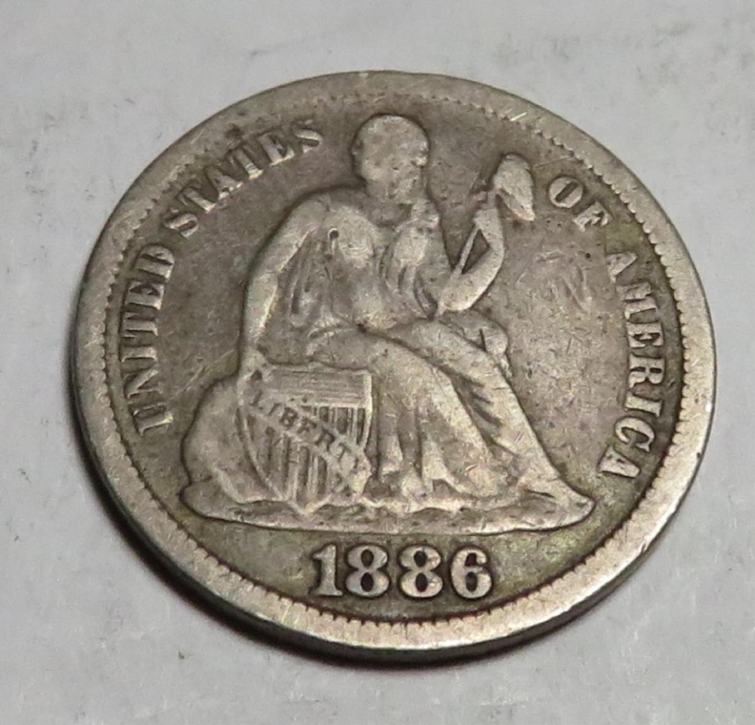 1886 Seated Liberty Dime