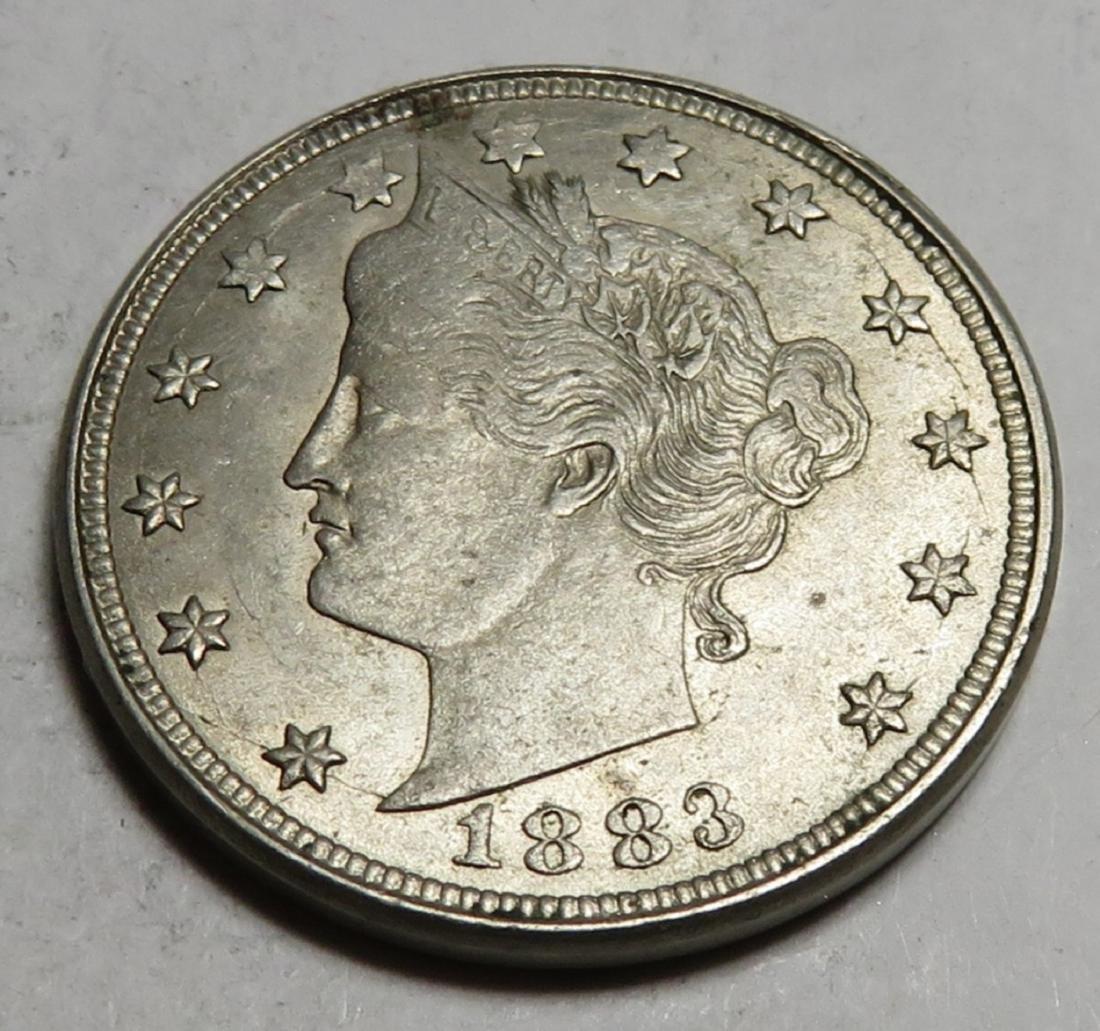 1883 V Nickel NO CENTS Variety