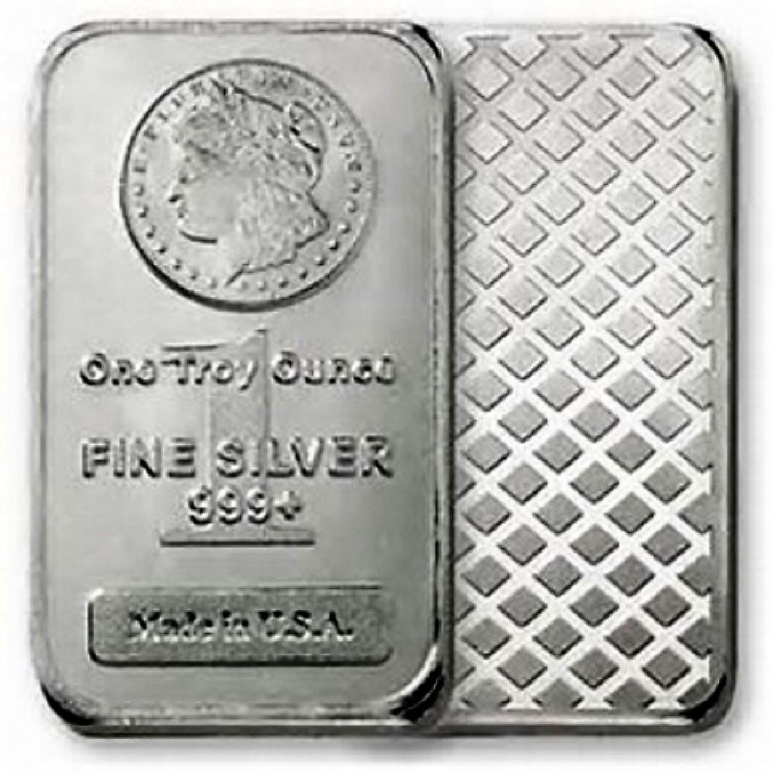 1 oz. Morgan Design Silver Bar - .999 Pure